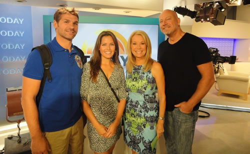 Kathie Lee Gifford & Drew's Friends<br>Chad & Marrie-Leigh<br /> On Set of NBC's TODAY Show, NYC - Sept 2013